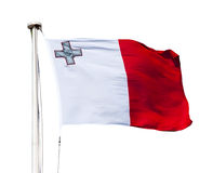 Flag of Malta. Isolated over white background Stock Photography