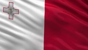 Flag of Malta - seamless loop stock video footage