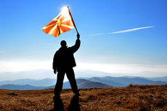 Flag man Stock Photography