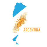 Flag and map of Argentina Stock Photos