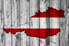 Flag and map of Austria Royalty Free Stock Photos