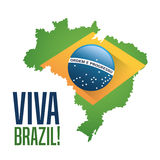 Flag and map of brazil design Royalty Free Stock Photos
