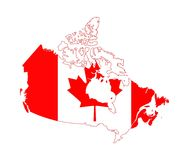American Flag.Canada. Flag- map of Canada to print on a t-shirt or as a background.Design the flag of Canada vector illustration