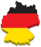 Flag Map of Germany. 3D Map and Flag of Germany Royalty Free Stock Photos