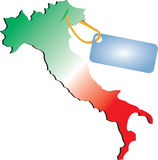 Flag map of Italy Royalty Free Stock Image
