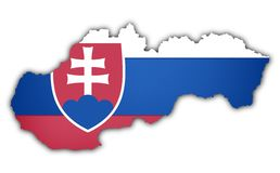 Flag and map of slovakia Royalty Free Stock Photos