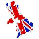 Flag map of United Kingdom Stock Photo
