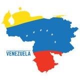 Flag and map of Venezuela Royalty Free Stock Photos