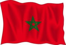 Flag of Marocco Stock Photo