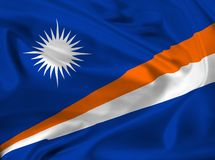 Flag of Marshall Islands Stock Photography