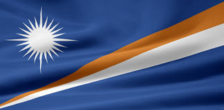 Flag of the Marshall Islands stock photography