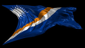 Flag of Marshall Islands stock video