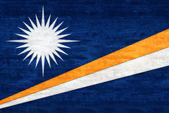 Flag of The Marshall Islands Grunge Stock Image