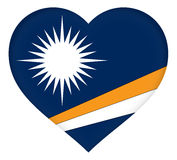 Flag of The Marshall Islands Heart Stock Image