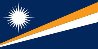 Flag of The Marshall Islands Stock Images