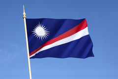 Flag of the Marshall Islands. The Marshall Islands are an island nation in the Pacific. Adopted on the start of self-governance on 1st May 1979 Royalty Free Stock Images