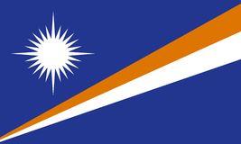 The flag of the Marshall Islands Stock Image