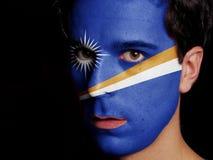 Flag of Marshall Islands Stock Photo