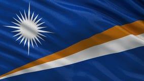 Flag of the Marshall Islands - seamless loop stock video footage