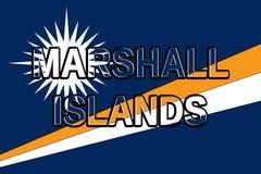 Flag of The Marshall Islands Word Stock Photos