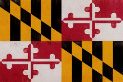 Flag of Maryland Grunge Stock Images