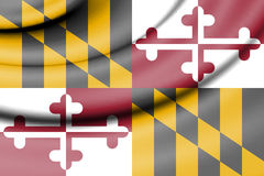 Flag of Maryland, USA. 3d Rendered Flag of Maryland, USA Royalty Free Stock Photography