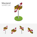 Flag of Maryland USA, vector 3D isometric flat icons Stock Photography