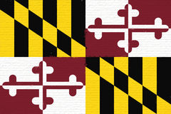 Flag of Maryland Wall Stock Photos