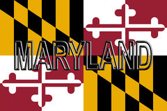 Flag of Maryland  Word Stock Photo