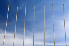 Flag Masts Royalty Free Stock Images