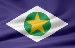 Flag of Mato Grosso stock photography