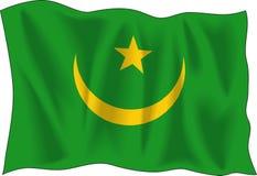 flag mauritania Στοκ Εικόνες