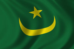 Flag of Mauritania. Waving in the wind Royalty Free Stock Images