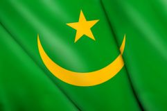 Flag of Mauritania. This is an illustration of folded flag Royalty Free Stock Photography
