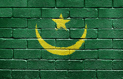 Flag of Mauritania on brick wall Royalty Free Stock Photos