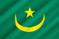 Flag of Mauritania Stock Photo