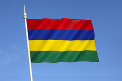 Flag of Mauritius. Adopted on independence on 12th March 1968 Royalty Free Stock Photos