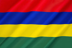 Flag of Mauritius. Adopted on independence on 12th March 1968 Stock Photography