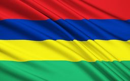 Flag of Mauritius, Port Louis. Flag of Mauritius - Adopted on independence on 12th March 1968 Stock Illustration