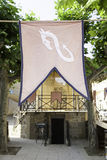 Flag medieval town Stock Photography
