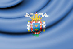 Flag of Melilla, Spain. Royalty Free Stock Image
