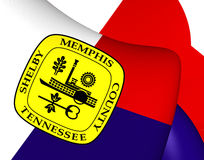 Flag of Memphis, USA. Royalty Free Stock Photo