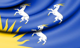 Flag of Merionethshire, Wales. Stock Photo