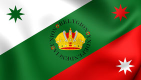 Flag of Mexican Regency First Flag of the Mexican Empire. 3D Flag of Mexican Regency First Flag of the Mexican Empire. Close Up Stock Image