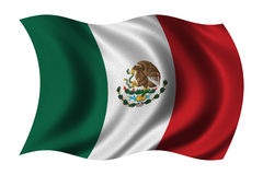 Flag of Mexico Royalty Free Stock Photography
