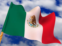 Flag. Mexico Stock Photo