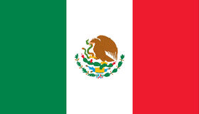 Flag of mexico. The national flag of Mexico vector illustration