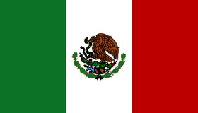 Flag of Mexico royalty free illustration