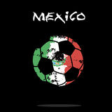 Flag of Mexico as an abstract soccer ball. Abstract soccer ball painted in the colors of the Mexico flag. Vector illustration stock illustration