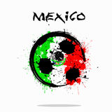Flag of Mexico as an abstract soccer ball. Abstract soccer ball painted in the colors of the Mexico flag. Vector illustration vector illustration
